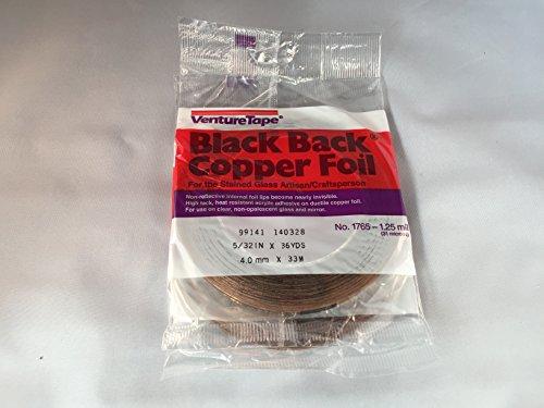 Venture Tape BLACK BACK COPPER FOIL 5/32'' 1.25 mil 36 Yds by Venture Tape