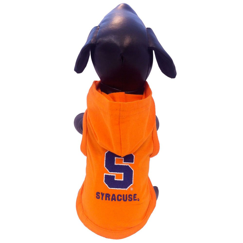 All Star Dogs NCAA Syracuse Orange Cotton Lycra Hooded Dog Shirt, Small Orange/Blue