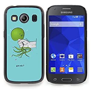 "Qstar Arte & diseño plástico duro Fundas Cover Cubre Hard Case Cover para Samsung Galaxy Ace Style LTE/ G357 (Verde Mano Crueldad Dolor triste azul claro"")"