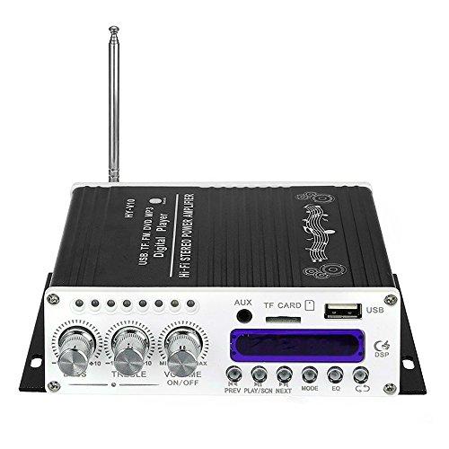 V10 Car Amplifier Black V4.0 Bluetooth 2x20W (No Power Adapter)