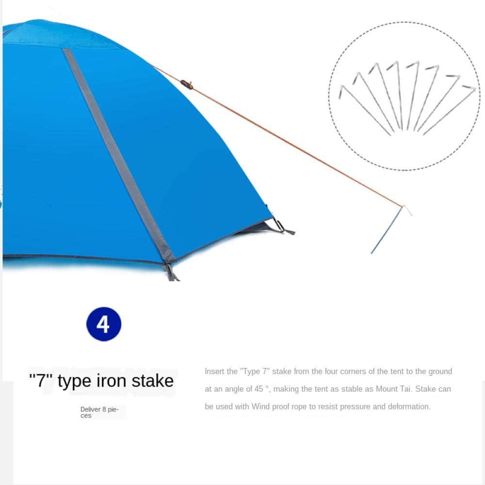Tent de randonnée de Camping Ultra légère imperméable pour 2 Personnes pour Le Camping en Plein air et la randonnée installée Rapidement et Facilement Dark green