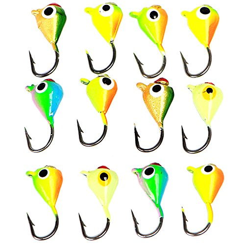 - Lead Ice Fishing Lure Jigs Head Pack of 12PCS