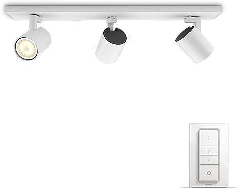 mit LED Weißschattierungensteuerbar Runner Philips Appweißkompatibel via 3 er inklDimmschalterdimmbaralle AlexaEcho Amazon Spot Hue UzVGqMpS