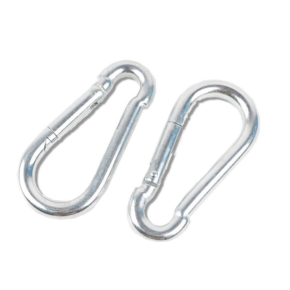 2pcs 10 cm子スイングカラビナトイツリースイングHangingキット&ハードウェアfor Swings & Hammocks 2ロックカラビナ B06XXZMHD5
