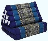Thai triangular cushion with mattress 2 folds, blue, relaxation, beach, pool, meditation garden (82202)