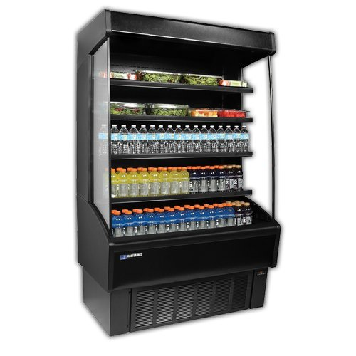 Master-Bilt, VOAM36-79, Vertical Open Air Merchandiser, Refrigeration, 20.8 Cubic Feet, Black