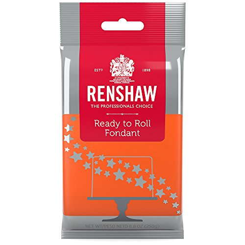 (Ready to Roll Fondant Icing Orange 8.8 Ounces by Renshaw)