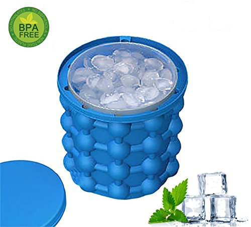 Price comparison product image 2018 New Ice Cube Maker Genie,The Revolutionary Space Saving Dual-use Ice Cube Maker,Ice Genie Kitchen Tools
