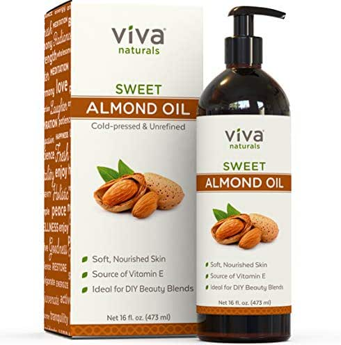 Almond Oil; Sweet Almond Oil for Skin or Almond Oil for Hair, The Perfect Natural Body Oil for Women, Great as Unscented Massage Oil, 16 oz