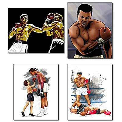 Muhammad Ali - Set of Four Watercolor Art Photos - 8x10 Poster Collectors Prints