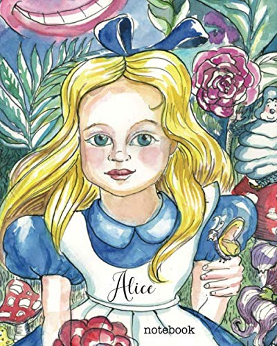 Alice Notebook: 160 page blank lined notebook for writing down anything you wish. Glossy softcover, perfect bound.]()