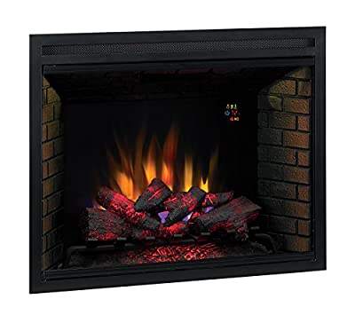 """ClassicFlame 39EB500GRA 39"""" Traditional Built-in Electric Fireplace Insert, Dual Voltage Option"""