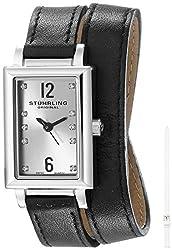 Stuhrling Original Women's 810.SET.01 Audrey Paris Stainless Steel Watch Set with Interchangeable Leather Straps