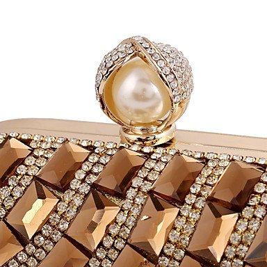 Soirée Pochettes clutches de Mariage Toutes Saisons les Matériel et Formel Fermoir soirée spécial Sac Minaudière Cristal Strass Fête SUNNY Femme Bijoux acryliques Gold KEY t6wf5f