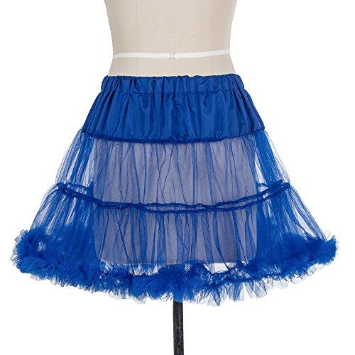 "Boolavard 18 ""50s Retro Tutú Petticoat Underskirt Enagua Negro, Blanco, Rojo, Rosa, Azul Azul"