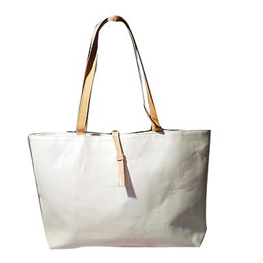 2556bbf5ba MOIKA Sacs Bandouliere Femme Cuir Cabas Toile Grande Capacité Sac De  Shopping Reutilisable Sac De Plage Femme Grande Taille Pas Cher à Larges  Feuilles: ...