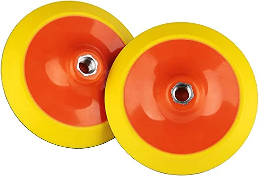 "Flexible 6/"" Hook /& Loop Polishing Wheel w// Backing Pad Buffing Polishing 5//8/"""