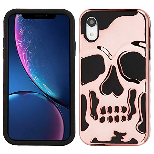 Protective Skull iPhone XR case Compatible with iPhone XR Skull Case Cover (Gold)