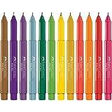 Caneta Fine Pen Promo com 12 Cores, Faber-Castell FPB/PROZF, Multicor