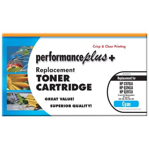 Performance Plus Remanufactured C9701A Cyan Laser Toner Cartridge, Qualtity, Clear, Crisp Printing