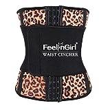 FeelinGirl Women's Firm Control Shapewear Latex Open Bust Corset Body Shaper M