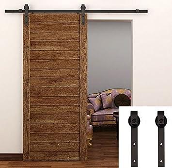 TCBunny 6.6 Feet Sliding Door Hardware Closet Set Antique Style (Black)