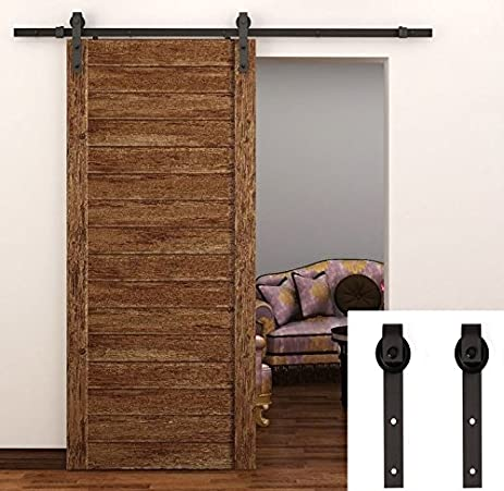 TCBunny 6.6 Feet Sliding Door Hardware Closet Set Antique Style (Black) - Amazon.com: TCBunny 6.6 Feet Sliding Door Hardware Closet Set