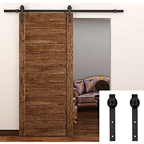 tcbunny 66 feet sliding door hardware closet set antique style black