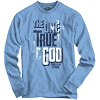 True God Savior Jesus Christ Holy Lord Religious Christian Long Sleeve Tee
