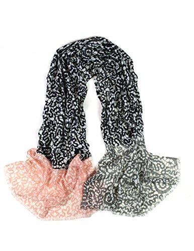 Free Lace Scarf Pattern - Dahlia Women's 100% Merino Wool Pashmina Scarf - Lace Pattern - Black