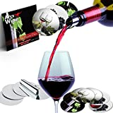 Wine Pourer Disc Set of 30 with 3 Designs Best Drip Stop Pour Spouts Thin Flexible and Reusable Drop Stop Disks