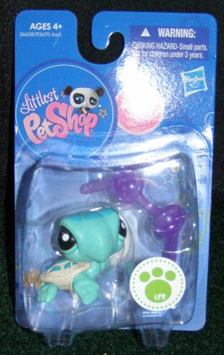 Hasbro Littlest Pet Shop Seafoam Green Baby Sea Turtle with Goggles #2097 Single New Wave