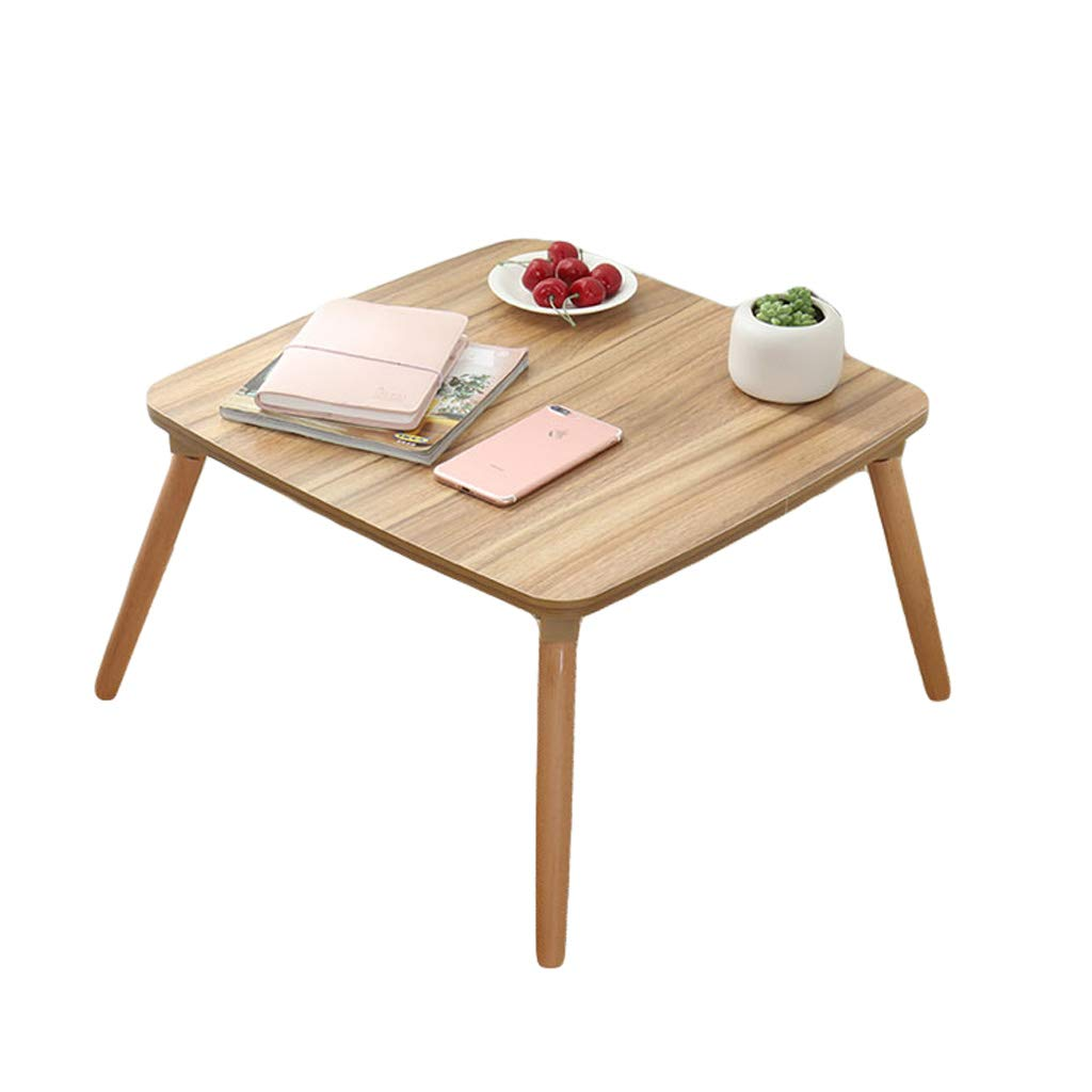 60 × 60 × 30cm ZHAOSHUNLI Folding Table Bay Window Table Small Coffee Table Simple Balcony Sill Low Table Folding Small Desk Bed Computer Desk (Size   60 × 60 × 30cm)