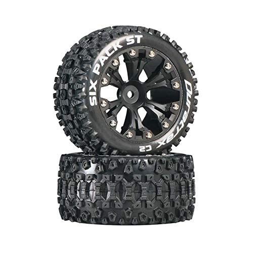 Duratrax DTXC3560 Six Pack RC Staduim Truck Tires with Foam Inserts, C2 Soft Compound, ST 2.8
