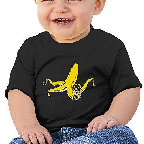 Banana Customized Graphic Baby O-neck Tee - Hills Rings Baby Black