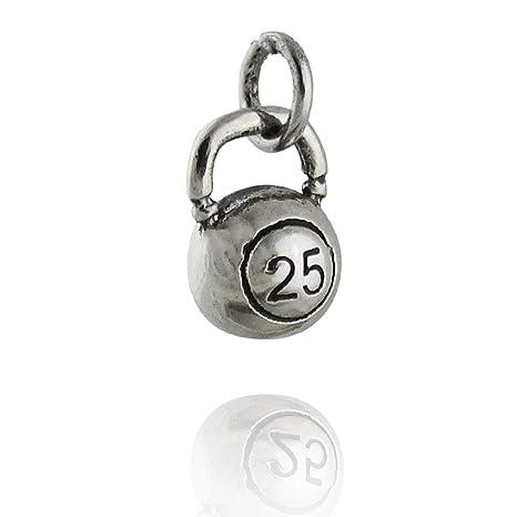 Tiny Kettlebell Charm - Plata de Ley 925 Peso Ejercicio ...