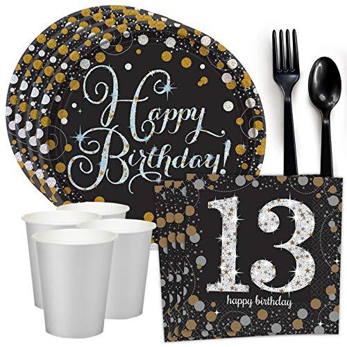 Costume SuperCenter Sparkling Celebration 13th Birthday Standard Tableware Kit (Serves 8)