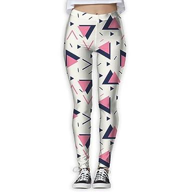 b7ae437a50 Simple Triangle Womens High Waist Yoga Pants Yoga Capris Pants Fitness Workout  Leggings Capris