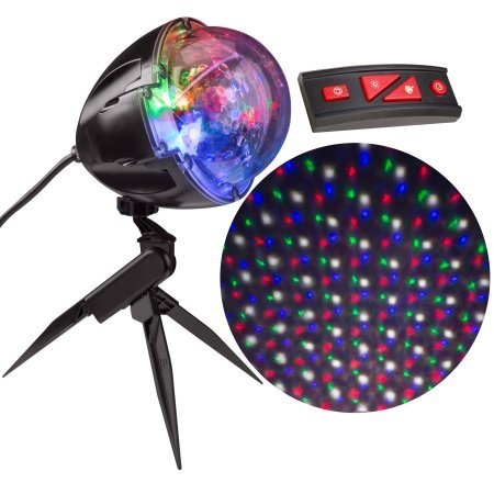 Halo Black Neon Projector (Christmas Light Projection Points with Remote -114 Programs)