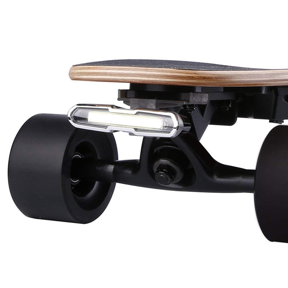 WONDERHOOスケートボードライト - 新しいアップグレードUSB充電式LED点滅安全ヘッドライトとテールライトはどんなロングボードにもフィットしますバイクスクーター   B07J6FQS6Y