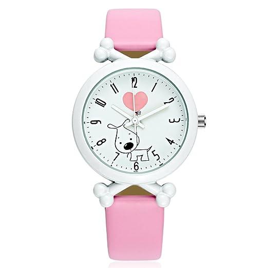 Reloj de pulsera para niñas, para aprender a decir la hora con un bonito dibujo