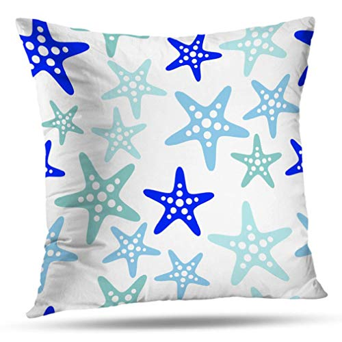 Alricc Decorative Throw Pillows Home Sweet Sign New Aged Art Blue Fashioned Floor Front Pillow Cushion Cover for Bedroom Sofa Living Room 16 x 16 Inch