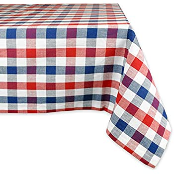 DII 100% Cotton, Machine Washable, Dinner, Summer U0026 Picnic Tablecloth, 60