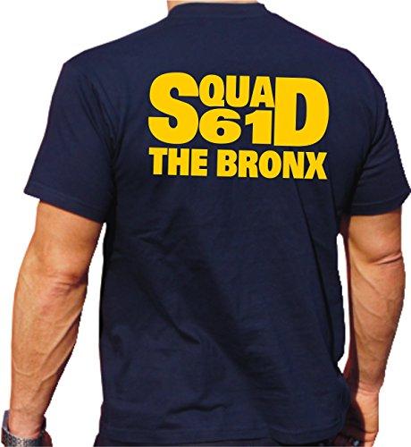 T-shirt Navy, Squad 61–The Bronx New York Vigili Del Fuoco