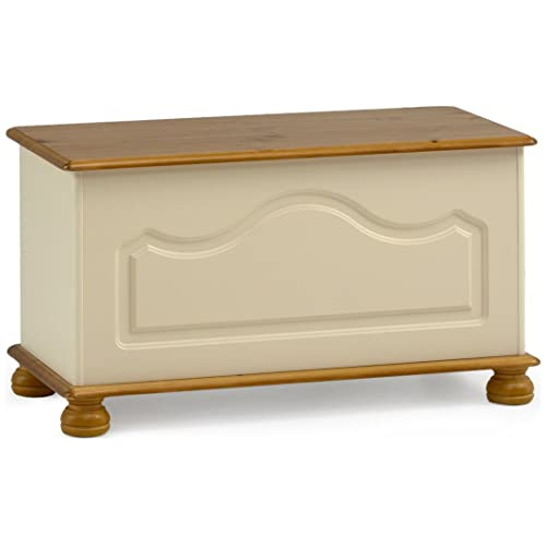 Ottomans Deacon Beige Upholstered Blanket Box: Large Blanket Box: Amazon.co.uk