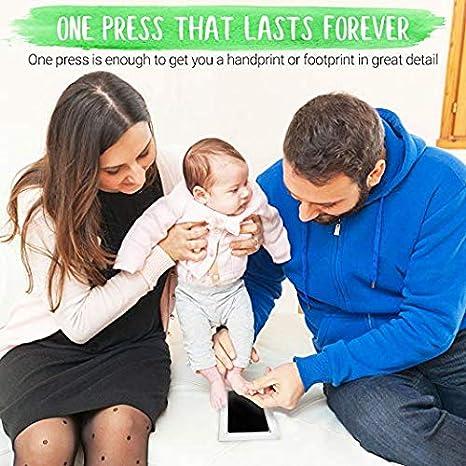 oder Hand-Abdruck Set Baby Handprint,Stempelkissen Babyhaut kommt nicht mit Farbe in Ber/ührung Schwarz 2pcs baby abdruck set,clean touch stempelkissen,Baby Handabdruck und Fu/ßabdruck,Baby Fu/ß
