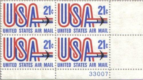 Airmail Plate Block (1971