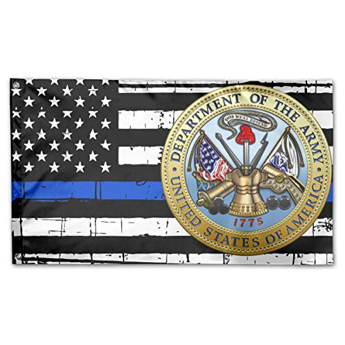 Brief History of The US Army Thin Blue Line Flag 100% Polyester House Flag Decorative Garden Flag Yard Banner Garden Flags 3x5 ()