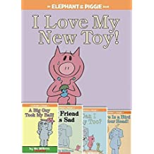 Elephant & Piggie Set of 5 Books: There Is a Bird on Your Head!, Elephant & Piggie: Can I Play Too?, Elephant & Piggie: My Friend Is Sad, Elephant & Piggie: I Love My New Toy!, Elephant & Piggie: A Big Guy Took My Ball!