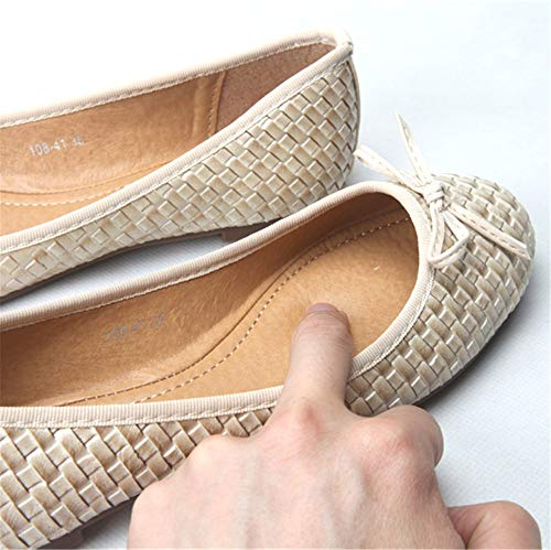 women shoes single comfortable shoes pregnant shallow work B office flat shoes shoes Braided bow ladies mouth FLYRCX UAqwY6xPg